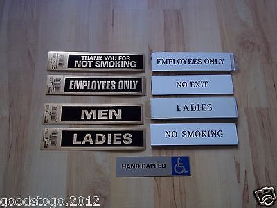 Signs Toilets Employees Only No Smoking Handicapped No Exit Ladies Gents Etc....