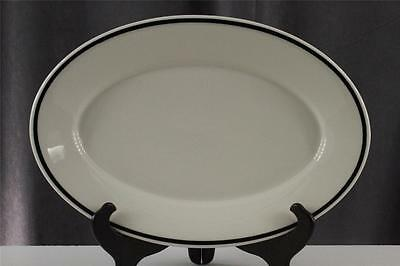 "Vintage Syracuse China Restaurant Ware Back Trim Oval  Meat Platters 13.25"" Long"