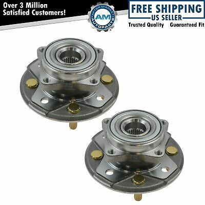 Front Wheel Hubs & Bearings Assembly Left & Right Pair Set for Honda Accord CL