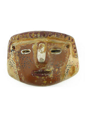 ACROSS THE PUDDLE Pre-Columbian Anthropomorphic Mask with Diadem Reproduction