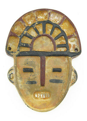 ACROSS THE PUDDLE Pre-Columbian Pottery Muisca Geometric Mask (S) Reproduction