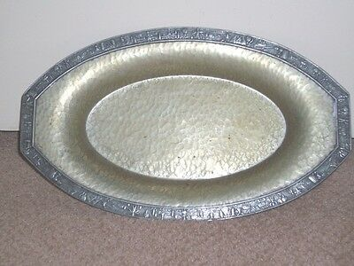 Vintage Henry Wilkinson Co. Hammered Copper & Silverplate Tray ca 1831-1892