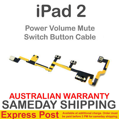 iPad 2 2nd Gen Generation Power Mute On Off Volume Button Key Switch Flex Cable