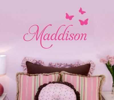 ANY Custom Name Removable Wall Sticker Baby Boys Girls *4 Sizes 25cm - 100cm*