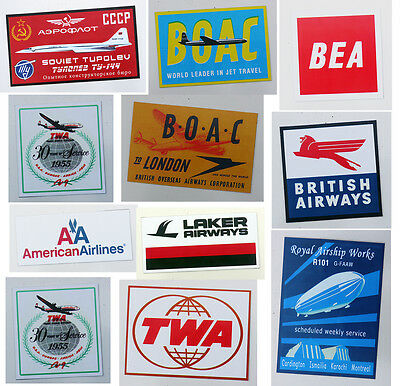 Airline / Aircraft Fridge Magnet Collection, Ba, Twa, Bea, Boac, Aa ... - New