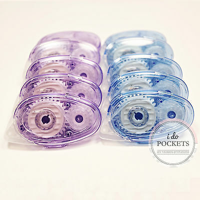 10 x GLUE TAPE 8.5M RUNNER DOUBLE SIDED CRAFT ROLLER DIY INVITATION SCRAPBOOKING