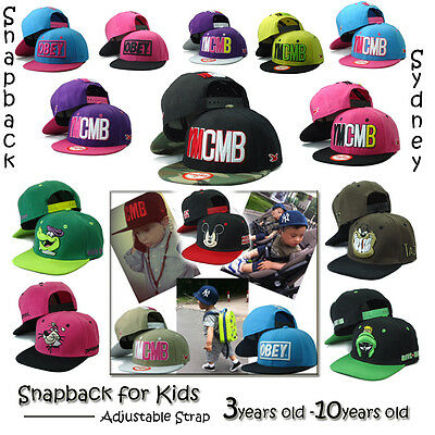Kids Snapback Hats YMCMB OBEY Snapback Hat for Most 3 -10 Years Old Kids