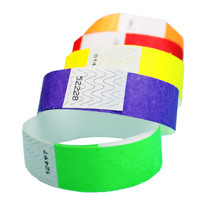 "100ct, 500ct or 1000ct- 3/4"" Tyvek Admission Wristbands - Choose Your Color&Qty"