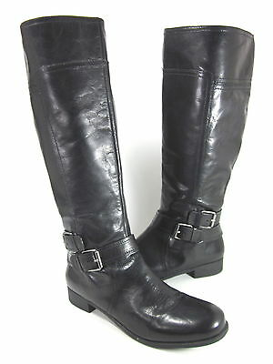 4ba9df13179 Nine West Womens Shiza Knee-Hi Riding Boot Black Leather Us Size 10 M