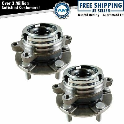 Front Wheel Hubs & Bearings Pair Set of 2 for Nissan Maxima Altima V6 w/ ABS