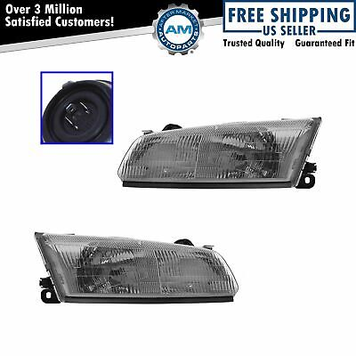 Headlights Headlamps Left & Right Pair Set for 97-99 Toyota Camry