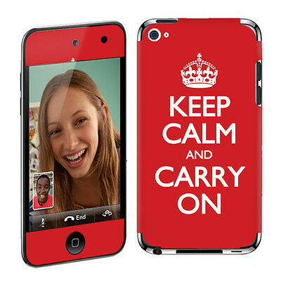 Apple iPod Touch 4 4G Decal Vinyl Cover Skin Sticker Red Keep Calm And Carry On