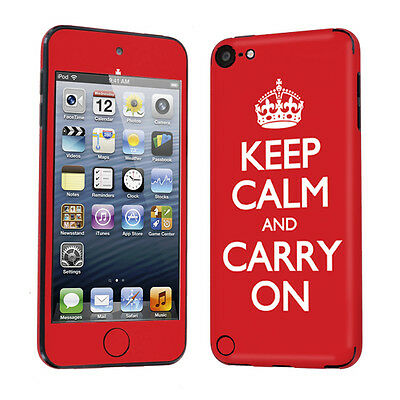 Apple iPod Touch 5 5th Gen Decal Vinyl Skin Sticker Red Keep Calm And Carry On