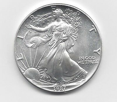 1987 - 1 oz American Silver Eagle Coin - One Troy oz .999 Bullion