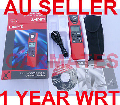 UNI-T LUMINOMETER 20-20000 LUX LUMEN LIGHT METER UT382 USB cable Professional