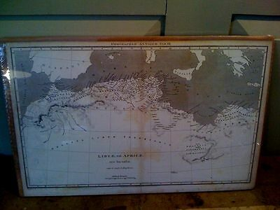1809 Macpherson Antique Map of Libya (Libyae) - In Cellophane and on Cardboard!
