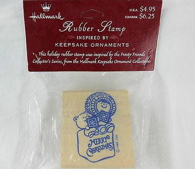 Hallmark Frosty Friends RUBBER STAMP Christmas Holiday Eskimo Scrapbooking