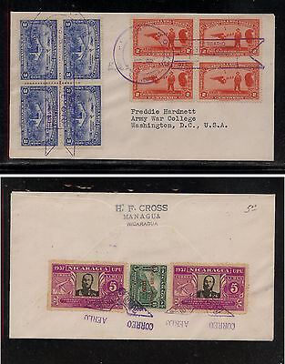 Nicaragua nice airmail cover  to   US                MS0926