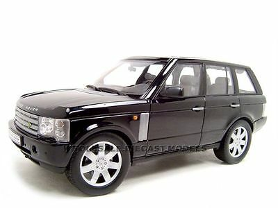 2003 Land Rover Range Rover Black 1/18 Diecast Model Car By Welly 12536