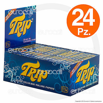 Cartine TRIP Corte 1.1/4 24pz Trasparenti Cellulosa Box