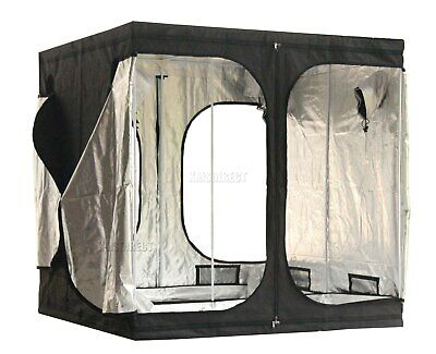 Portable Grow Tent – Thick Foil Silver Mylar Hydroponic Dark Room 2m x 2m x 2m