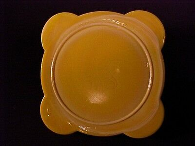 Akro Agate Yellow Vase Stand / Pot Stand / HTF