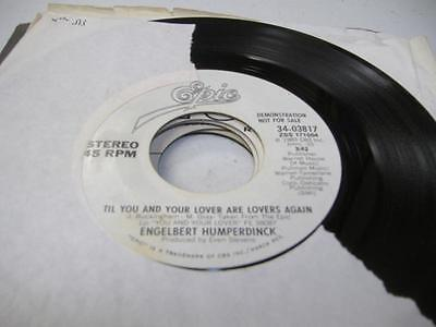 Pop Promo 45 ENGELBERT HUMPERDINCK Til You And Your Lover Are Lovers Again on Ep