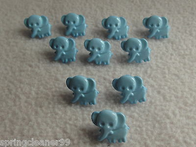approx 15mm BABIES//CRAFT 28L 10 x WHITE ELEPHANT SHAPED BUTTONS ~ size