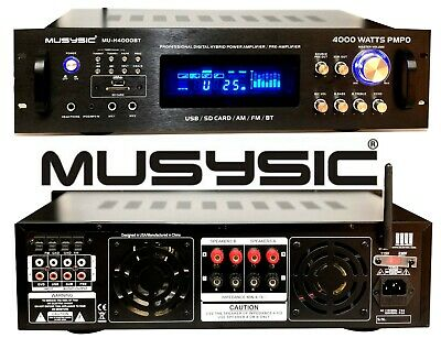 Professional 4000 Watts Hybrid Amplifier / Pre-Amplifier / Receiver MU-H4000BT