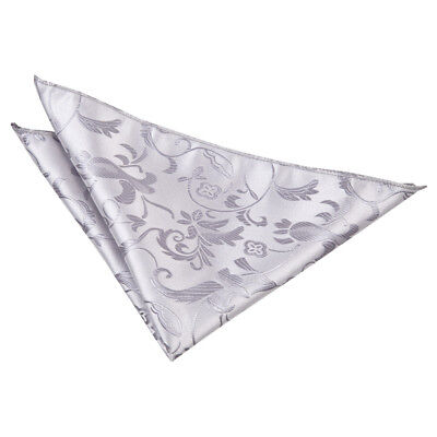 New Dqt Passion Mens Handkerchief / Hanky - Silver