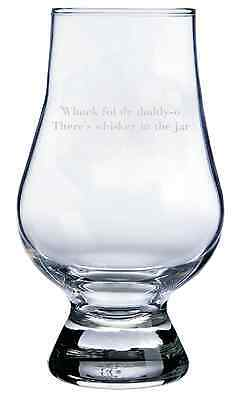 Whiskey In the Jar Quote Engraved Glencairn Crystal Scotch Whisky Glass