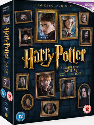 "Harry Potter The Complete 8 Film Collection 16 Disc Dvd Box Set R4 ""New&Sealed"""
