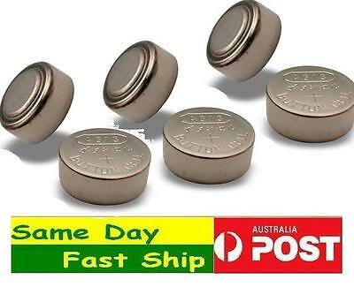 6 Pcs AG13 or LR44 Alkaline Button Cell Battery Fast Ship From Melbourne