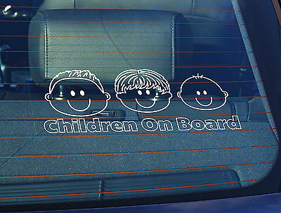 SBD Static Cling Window Car Sign//Decal Children On Board 2 Hands 100mm x 250mm