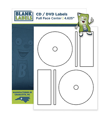 200 CD DVD Laser and Ink Jet Labels -Full Face Memorex Size! 100 Sheets!