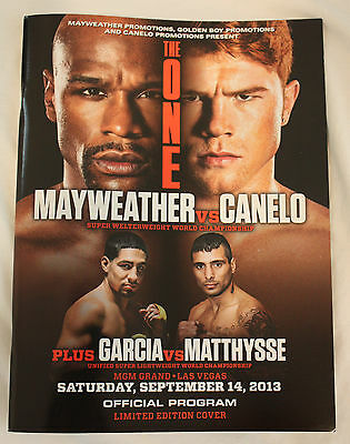 Floyd Mayweather vs Canelo Limited Edition Official Program