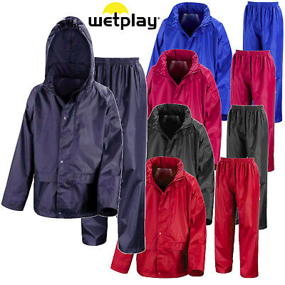 New Kids Boys Girls Childrens Regatta Stormbreak Waterproof Rain Over Trousers