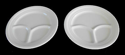 Homer Laughlin ** Two (2) Grill Plate ** White * Diner-Cafeteria-Restaurant Ware