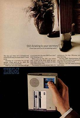 1966 IBM Executary 224 Portable Dictation System PRINT AD