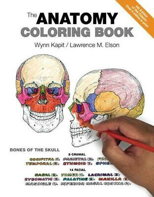 The Anatomy Coloring Book by Wynn Kapit (English) Paperback Book Free Shipping!
