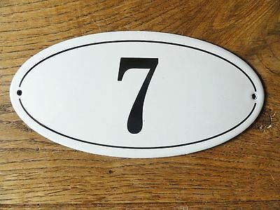 Antique Style Enamel Door Number 7 House Number Door Sign Plaque