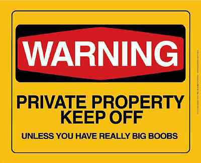 Warning Private Property Tin Sign Large Variety,  Lowest Prices, Post Discounts
