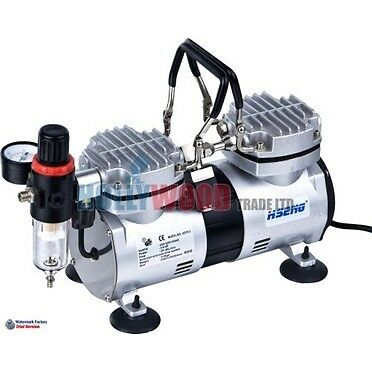 Twin Cylinder Airbrush Compressor  AS 19 (Oil-free)