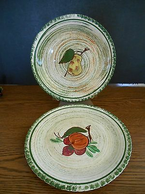 "Vintage Blue Ridge Southern Pottery Lot of 2 Plates 8 1/2"" with Pie crust Border"