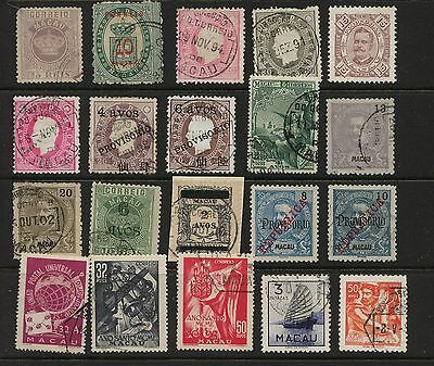 Macau   nice  lot  of  early    stamps         KEL0801