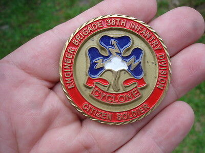 Engineer Brigade 38th Infantry Division Cyclone Citizen Soldier Challenge Coin