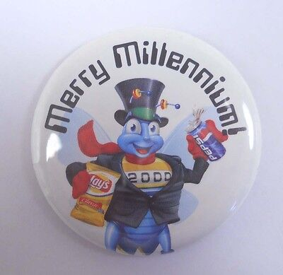 Vintage PEPSI Pin Pinback HAPPY MILLENNIUM 2000 Lays Potato Chips Y2K
