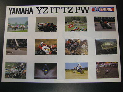 Brochure Yamaha YZ IT TZ PW (Duits)