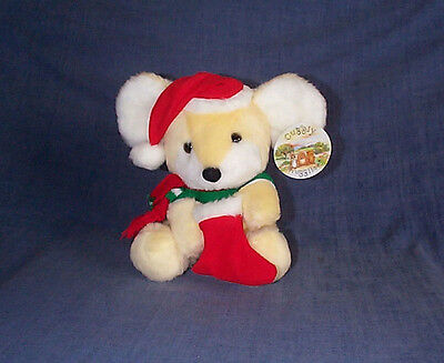 Christmas Mouse Cuddly Soft Toy (New+Tagged)