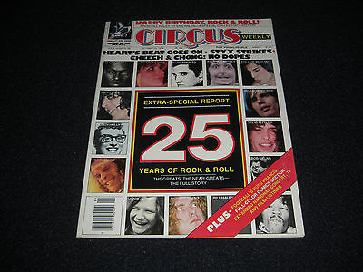 """Circus Magazine 1978 """"25 Years Of Rock""""  Solo Kiss,  Heart, Queen"""